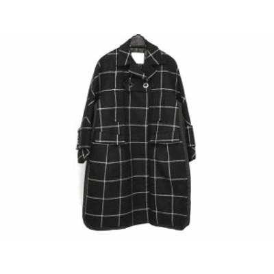 サカイ Sacai コート サイズ1 S レディース - 黒×白 長袖/ウール/冬【中古】20201217