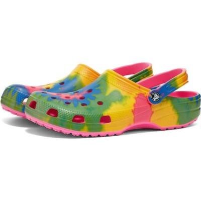 クロックス Crocs メンズ クロッグ シューズ・靴 classic tie dye graphic clog Electric Pink/Multi