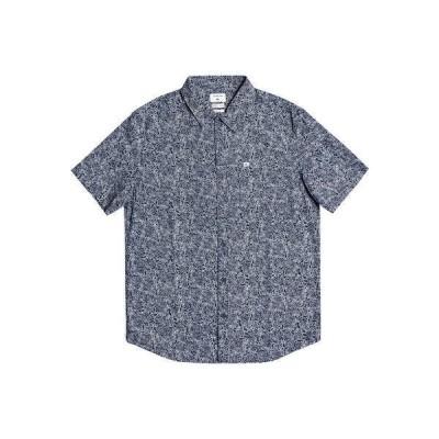 クイックシルバー シャツ トップス メンズ Men's Sketchy Daze Short Sleeve Shirt Navy Blazer Sketchy Daze