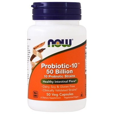 Probiotic-10, 50 Billion, 50 Veg Capsules