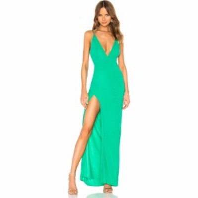 ラヴァーズフレンズ Lovers + Friends レディース パーティードレス ワンピース・ドレス Maddox Gown Green