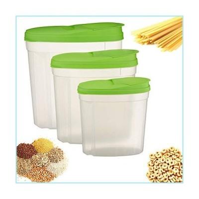 新品3Pk Large Cereal Dispenser Grain Dry Food Storage Container Set BPA Free w/Lids