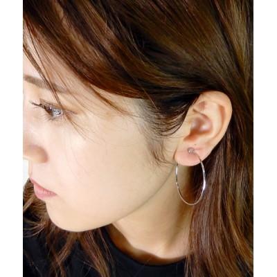 minia / シンプルフープのピアスとイヤリング < 選べるサイズ > [minia] WOMEN アクセサリー > ピアス(両耳用)