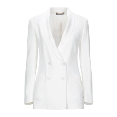 アルベルタ フェレッティ ALBERTA FERRETTI テーラードジャケット ホワイト 38 アセテート 76% / レーヨン 24% テーラー