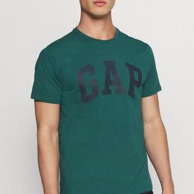 ギャップ メンズ ファッション BASIC LOGO - Print T-shirt - velvet teal