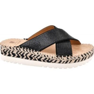ホワイトマウンテン White Mountain レディース サンダル・ミュール シューズ・靴 Kimberly Criss Cross Slide Black Fabric
