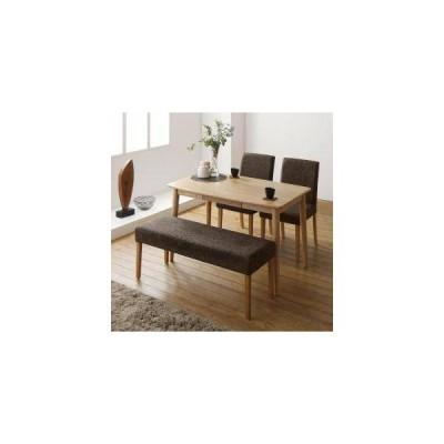 ダイニングテーブルセット 4人用 椅子 ベンチ おしゃれ 北欧 食卓 4点 ( 机+チェア2+長椅子1 ) 幅115 デザイナーズ クール スタイリッシュ 無垢 引き出し 収納