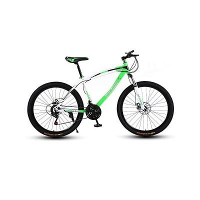 LRHD Mountain Bicycle, Adult 24 Speed Speed Travel Bicycle Bike Urban Track Bike 24/26 Inch Men and Women MTB Bike Double Disc Brake High Carbon Steel