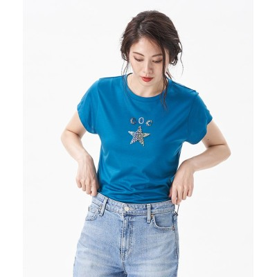 【キャラ・オ・クルス】 星モチーフTシャツ レディース グリーン系 9 CARA O CRUZ