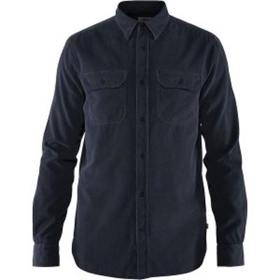 フェールラーベン メンズ シャツ トップス Ovik Cord Shirt Dark Navy