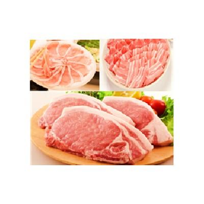 鹿児島県産豚厚切りステーキ&しゃぶしゃぶ三昧セット約16kg