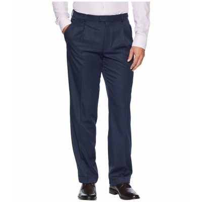 ペリーエリス カジュアルパンツ ボトムス メンズ Double Pleated Classic Fit Performance Dress Pants Twilight