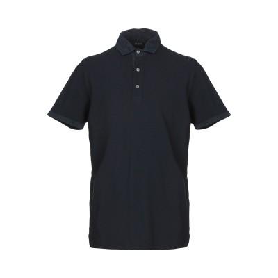 アルファスタジオ ALPHA STUDIO ポロシャツ ダークブルー 46 コットン 100% ポロシャツ
