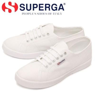 SUPERGA (スペルガ) 2750-COT U SLIPONSUPERLIGHT キャンバススニーカー 901 WHITE SPG007