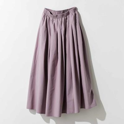タックギャザーロングスカート〈ライラックピンク〉 MEDE19F フェリシモ FELISSIMO