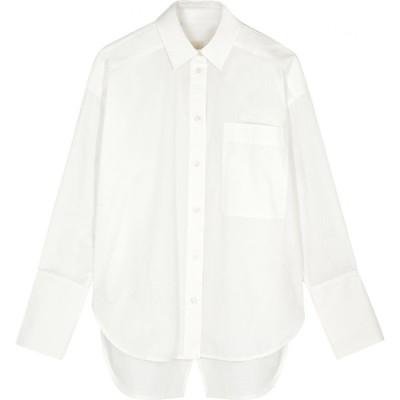リーマシューズ Lee Mathews レディース ブラウス・シャツ トップス Workroom White Poplin Shirt Natural