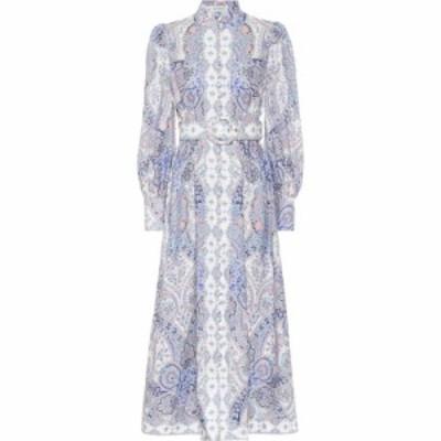 ジマーマン Zimmermann レディース ワンピース ミドル丈 ワンピース・ドレス Paisley linen midi dress Jacaranda Paisley