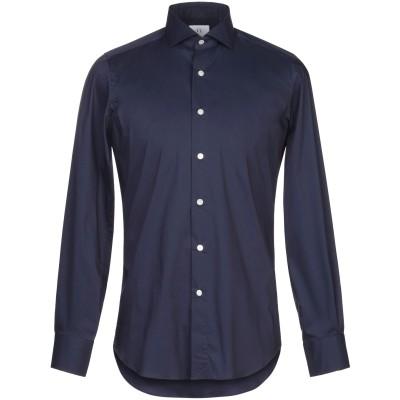 MASSIMO LA PORTA シャツ ダークブルー 39 コットン 67% / ナイロン 30% / ポリウレタン 3% シャツ
