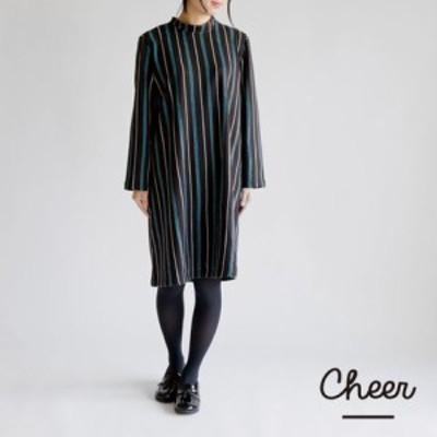 秋冬限定 ストライプ カリダ ワンピース  || レディースアパレル ドレス