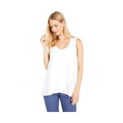 NIC+ZOE ニックアンドゾー レディース 女性用 ファッション ブラウス Eaze Layer Tank - Paper White