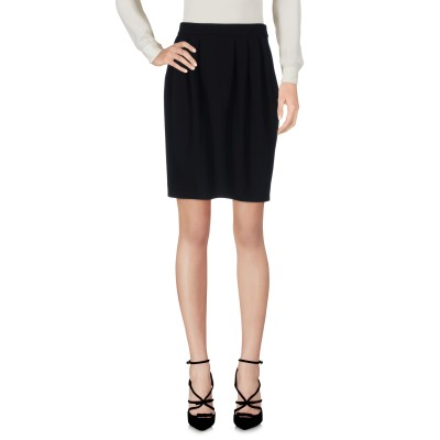 BOUTIQUE MOSCHINO ひざ丈スカート ブラック 42 トリアセテート 70% / ポリエステル 30% ひざ丈スカート