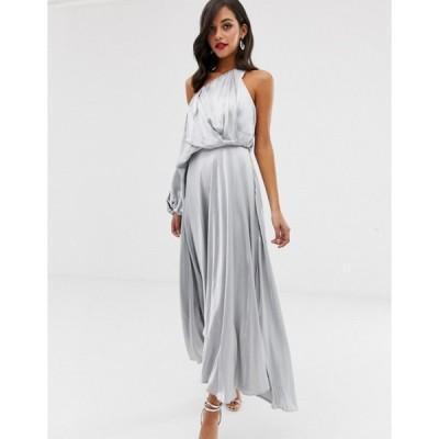 エイソス レディース ワンピース トップス ASOS EDITION blouson one shoulder dress in satin