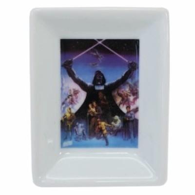 スターウォーズ 角 小皿 ミニ スクエア プレート 40周年記念 ダースベイダー2 STAR WARS 7×9.5×1cm キャラクター グッズ