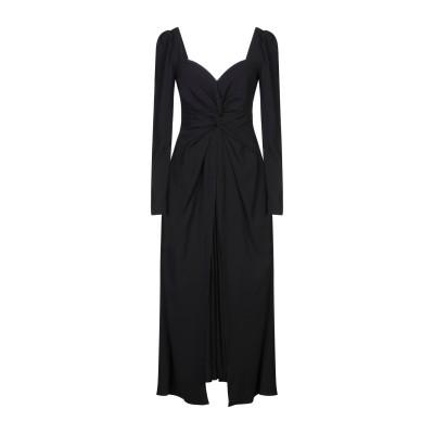 SELF-PORTRAIT ロングワンピース&ドレス ブラック 4 ポリエステル 100% ロングワンピース&ドレス