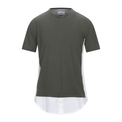 パオロ ペコラ PAOLO PECORA T シャツ ダークグリーン M コットン 100% T シャツ
