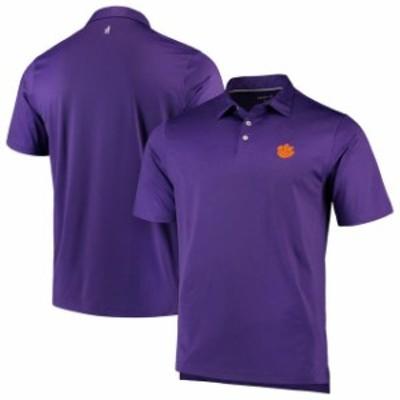 johnnie-O ジョニー オー スポーツ用品  johnnie-O Clemson Tigers Purple NCAA Birdie Polo