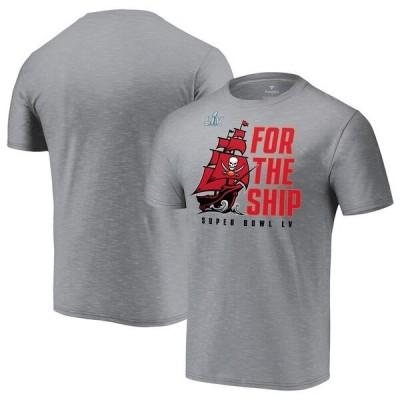 NFL Tシャツ バッカニアーズ ヘザーグレー 第55回スーパーボウル記念 メンズ 半袖 tシャツ Local SB55