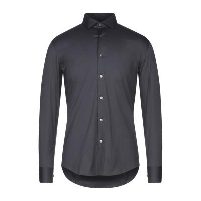 BOSS HUGO BOSS シャツ ブラック 37 コットン 75% / ナイロン 20% / ポリウレタン 5% シャツ