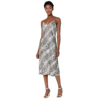 アメリカンローズ レディース ワンピース トップス Nell Spaghetti Strap Snake Print Dress