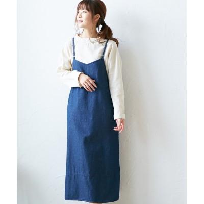 【20春夏】デニムキャミワンピース (ワンピース)Dress