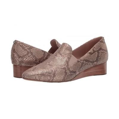 Taryn Rose タリンローズ レディース 女性用 シューズ 靴 ヒール Claudia - Soft Gold Metallic Cobra