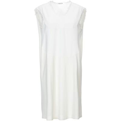 ランベルト・ロザーニ LAMBERTO LOSANI ミニワンピース&ドレス アイボリー XS コットン 100% / レーヨン / シルク / ポ