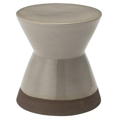 ミニスツール スツール グレー 灰色 おしゃれ 北欧 1人掛け 1人用 陶器 コンパクト 小さめ 円型 丸椅子 かわいい CLY-20GY / 東谷