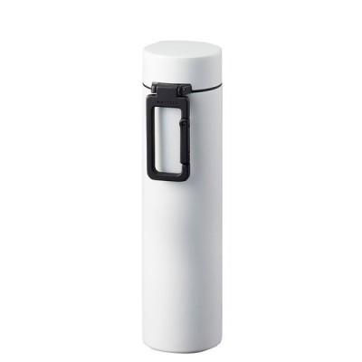 MOTTERU カラビナハンドルサーモボトル 360ml ホワイト MO-3005-044  水筒 マグボトル おしゃれ[▲][TW]
