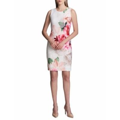 カルバンクライン レディース ワンピース Printed Scuba Dress
