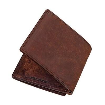 ヒズファクトリー 小銭入れ付き二つ折り財布 プエブロ (タバコ)