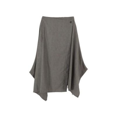 グレンチェックアシンメトリースカート