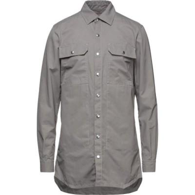 ダークシャドウ DRKSHDW by RICK OWENS メンズ シャツ トップス solid color shirt Lead