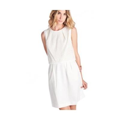 トリーナターク ドレスTRINA TURK レディース JOLINA LASER CUT ノースリーブ ドレス ホワイトWASH SZ 12 MSRP298