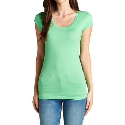 ユニセックス 衣類 トップス Wonen's Basic Short Sleeve Scoop Neck Tee Shirts Top グラフィックティー