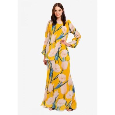 ズィーユーシーオー ファッション Zuco Fashion レディース ワンピース ワンピース・ドレス Dress Peplum W Kimono Style Top Yellow/Multi
