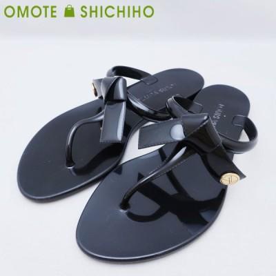 Louis Vuitton ルイヴィトン シースターライン サンダル 靴  #36 (日本サイズ約23cm) レディース 黒 ブラック◆中古ABランク【000】