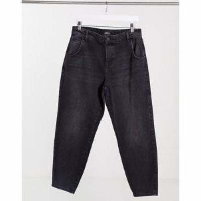 オンリー Only レディース ジーンズ・デニム ボトムス・パンツ Troy tapered leg jeans in black ブラック