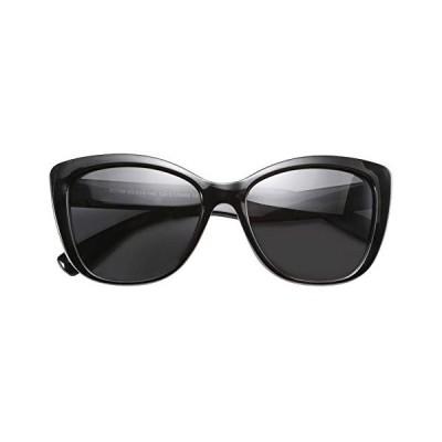 サングラスFEISEDY 偏光 ヴィンテージ サングラス アメリカン スクエア ジャッキー O 猫 アイ サングラス B2451 ブラック 56ミリメ