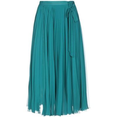 CAROLINA HERRERA 7分丈スカート ディープジェード 4 シルク 100% 7分丈スカート