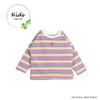【ME LOVE KIDS】カラフルボーダーカットソー 14011